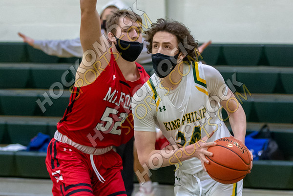 King Philip-Milford Boys Basketball - 01-24-21