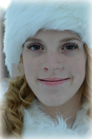 ''Olivia in her winter wonderland''