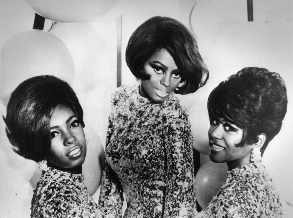 . Top Motown soul pop group Diana Ross and the Supremes, left to right, Mary Wilson, Diana Ross and Cindy Birdsong, 1968.   (Photo by Keystone/Getty Images)