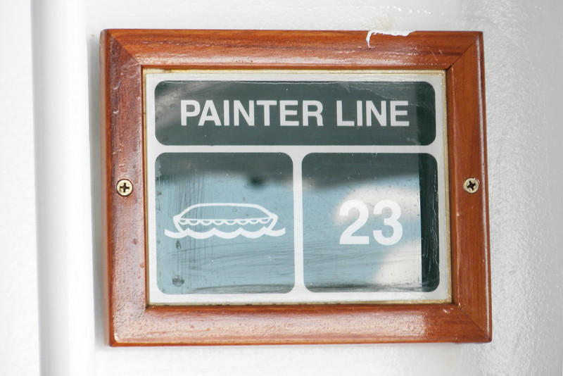 I have no idea what the painter line meant but it was near the life boats.