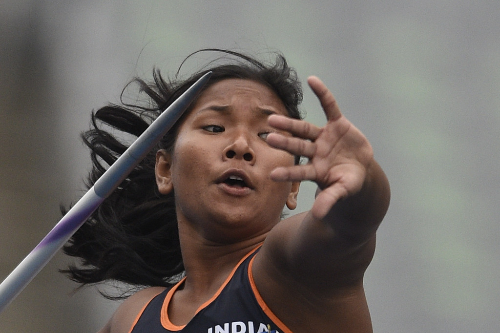 . India\'s Swapna Barman competes in the women\'s heptathlon javelin throw athletics event during the 17th Asian Games at the Incheon Asiad Main Stadium in Incheon on September 29, 2014. MARTIN BUREAU/AFP/Getty Images