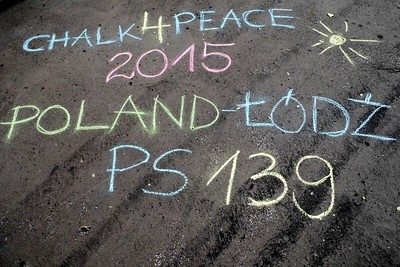 CHALK4PEACE 2015 PS 139 Lodz Poland