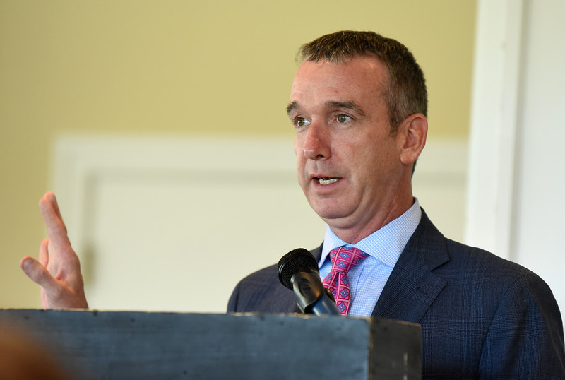 Harold Aughton/Butler Eagle: Casey Mullen speaks about his journey with addiction during the Gaiser Foundation luncheon held at the Butler Country Club, Wed., October 9.
