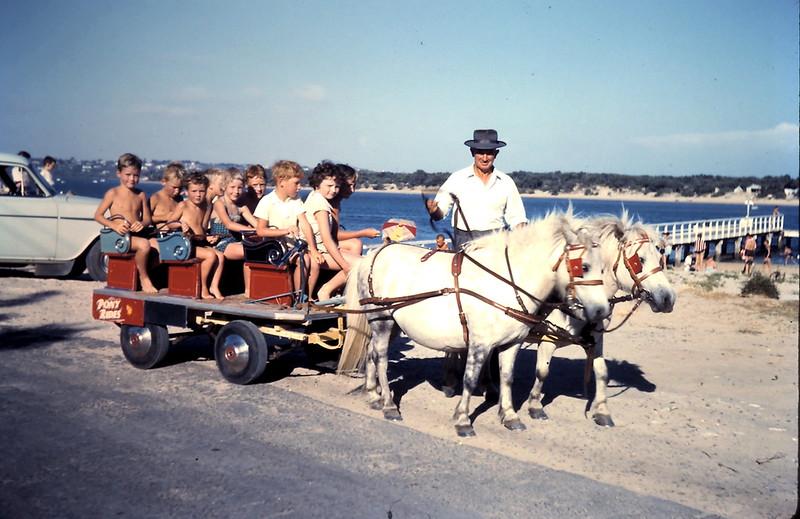 1961-1 (11) Swan, Grant & Wilson children on pony ride @ Barwon Heads.JPG