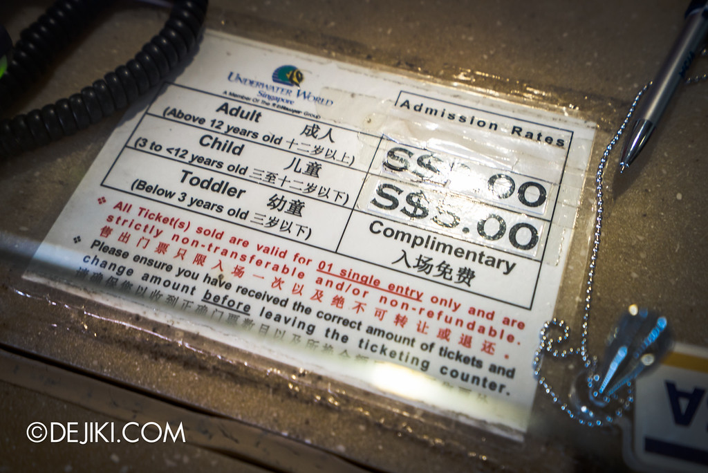 Underwater World Singapore - Discounted prices, since 1991