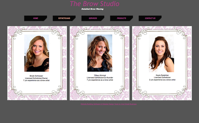THE BROW STUDIO WEBSITE