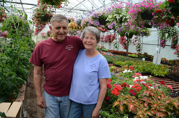 Tom and Paulette Morin, owners of Mt. Greylock Greenhouses retiring