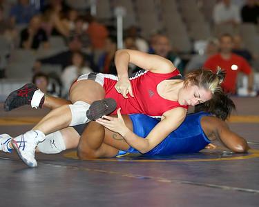 Women's Freestyle Championships 55 Kg Marcie Van Deusen (Sunkist Kids) def. Tina George (U.S. Army)