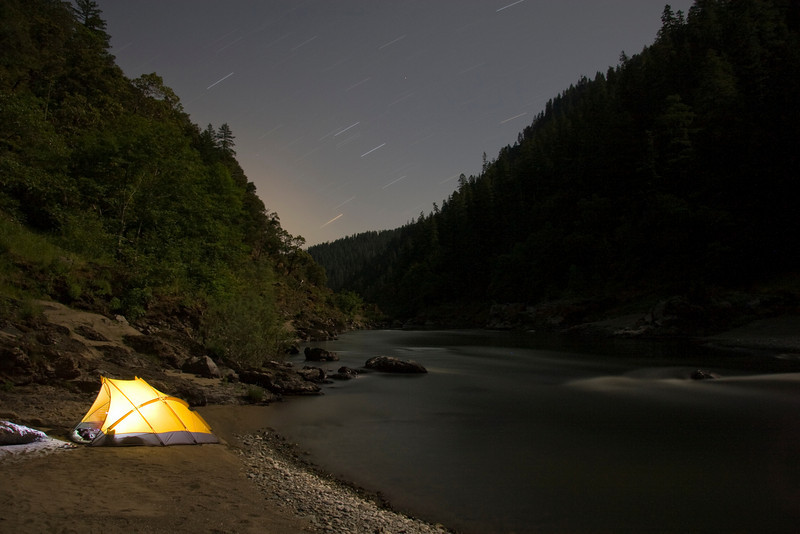 There are many great riverside camping options for self-support hikers along the Rogue River Trail.