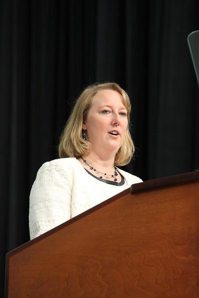 Jodi Slattery speaks during orientation.