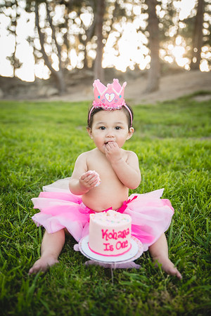 Kohana's 1st Birthday Cake Smash