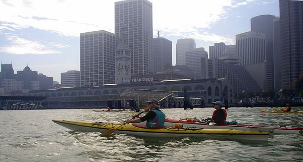 The Ferry Building, our turn-around point.