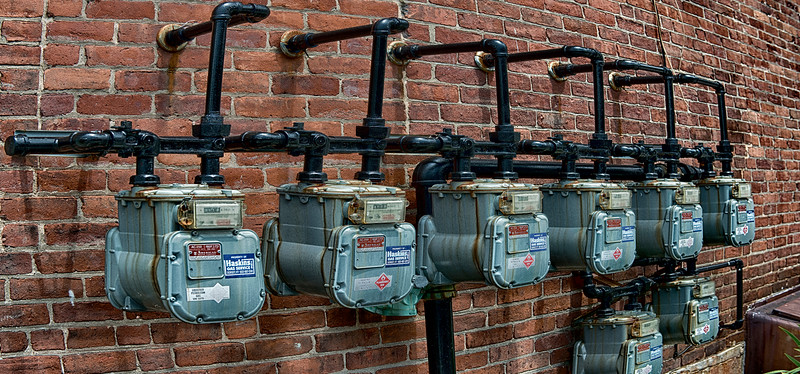 Gas Meters in downtown Bennington, VT  #895
