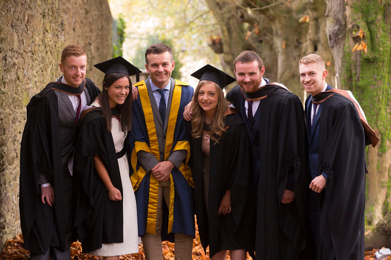 02/11/2018. Waterford Institute of Technology (WIT) Conferring Ceremonies 2018. Pictured are Andrew Geraghty Meath, Alison Daly Meath, Michael Breen, Eimear Lyman Laois, Bertie Cagney Cork, Shane Browne Wicklow . Picture: Patrick Browne