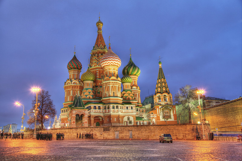 St. Basil's Cathedral, Moscow, Russia (HDR)