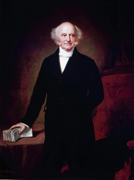 . Martin Van Buren, seen in this painting was the 8th President of the United States from March 4, 1837 - March 3, 1841. (AP Photo)