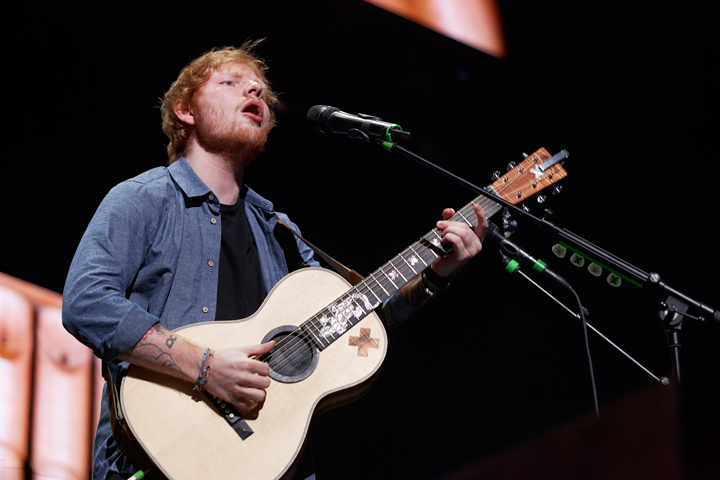 . Ed Sheeran performs at The Palace of Auburn Hills on Wednesday, Sept. 17, 2014. Photo by Ken Settle.