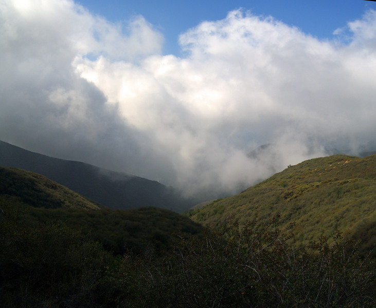 Panorama from top of Cold Springs Trail