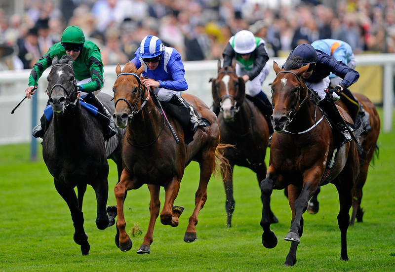 . Jospeh O\'Brien riding Declaration of War (R)  lands the Queen Anne Stakes during day one of Royal Ascot at Ascot Racecourse on June 18, 2013 in Ascot, England.  (Photo by Alan Crowhurst/Getty Images for Ascot Racecourse)
