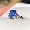 Vintage-Inspired and Contemporary 3.03ct Blue Sapphire Ring (GIA, No-Heat)) 1