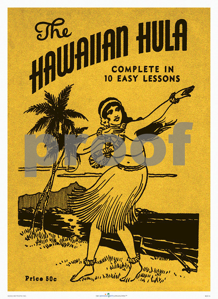 261: 'THe Hawaiian Hula' Booklet Cover. Ca. 1933. (PROOF watermark will not appear on your print)