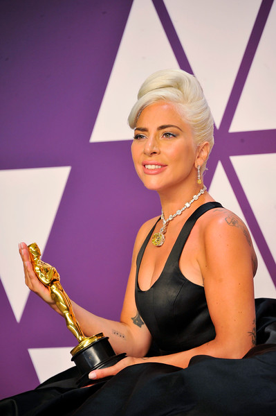 "ACADEMY AWARDS 91ST OSCARS PRESSROOM HELD AT THE LOWES HOTEL IN HOLLYWOOD CALIFORNIA ON FEBRUARY 24,2019. LADY GAGA MUSIC ORIGINAL SONG ""SHALLOW"" PHOTOGRAPHER VALERIE GOODLOE"