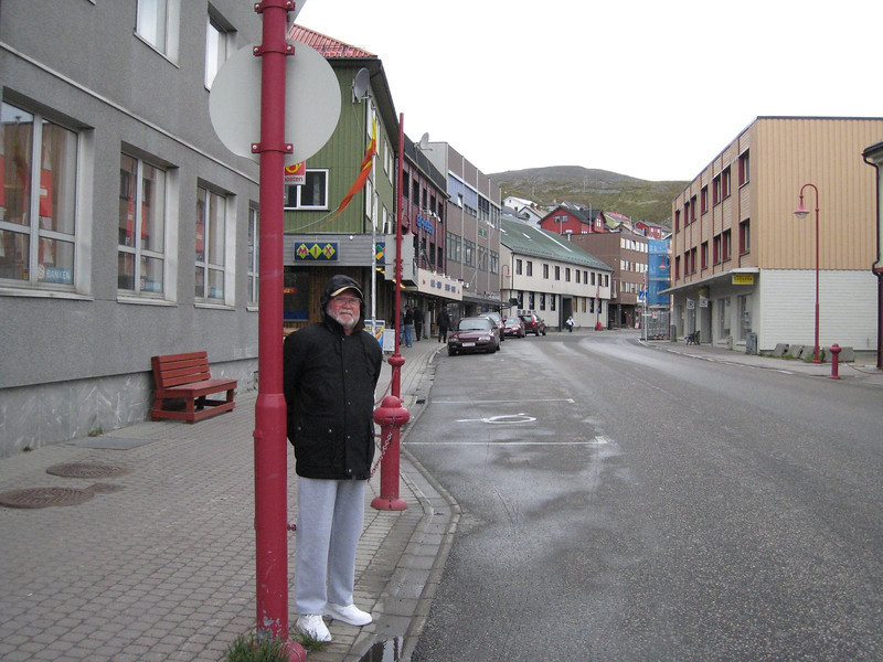 DRB on the street in Honningsvag