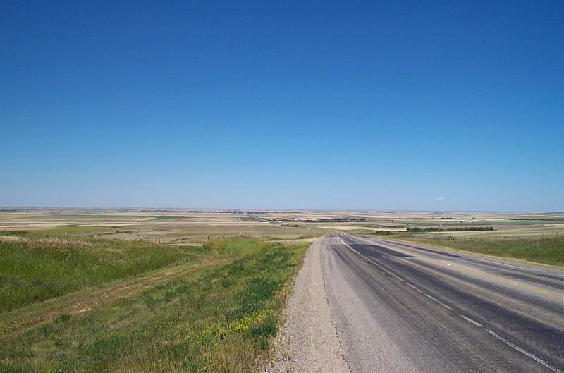 Overlooking farm land