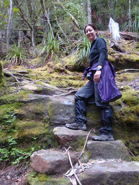 The trail got steep...