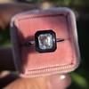 1.19ct Vintage Emerald Cut Diamond Onyx Ring, GIA E VS2 43