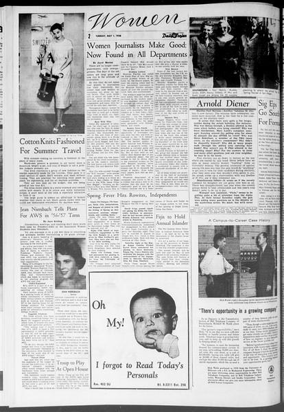 Daily Trojan, Vol. 47, No. 124, May 01, 1956