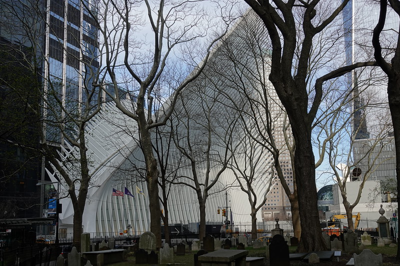 The Oculus, Manhattan from St Paul's Chapel.