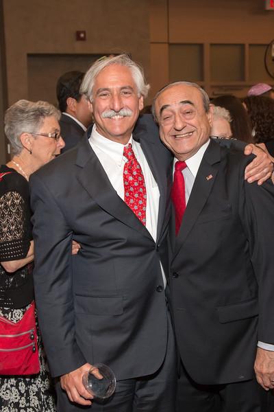Doug Bregman and Hazzan Emeritus Abe Lubin -- Tour de Rudolph -- Retirement tribute for Rabbi Bill Rudolph, Congregation Beth El, Bethesda, MD, May 17, 2015