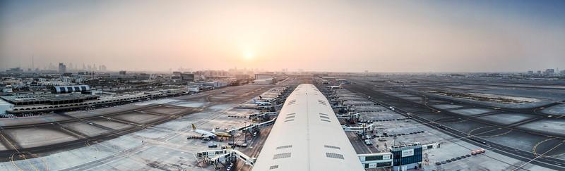 Dubai International Airport, view from ATC tower