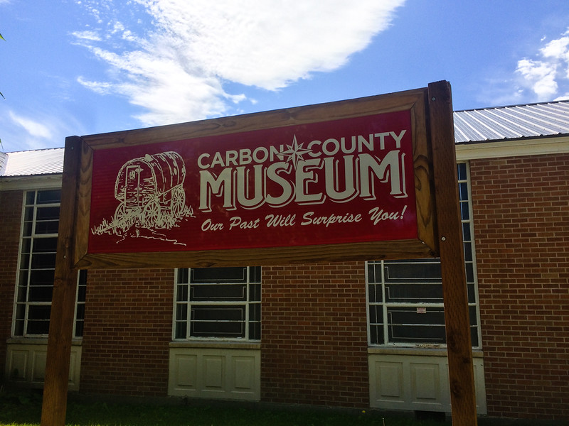 Stopped by the Carbon County Museum on Rachel's recommendation.