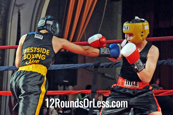 Bout 2 Drew Smith, Salem BC, Salem HS -vs- Xavier Muniz, West Side BC, 132 lbs Sub-Novice