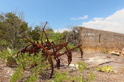 Old farm machine at the Cushman property on Mockhorn Island, VA.  © 2020 Kenneth R. Sheide