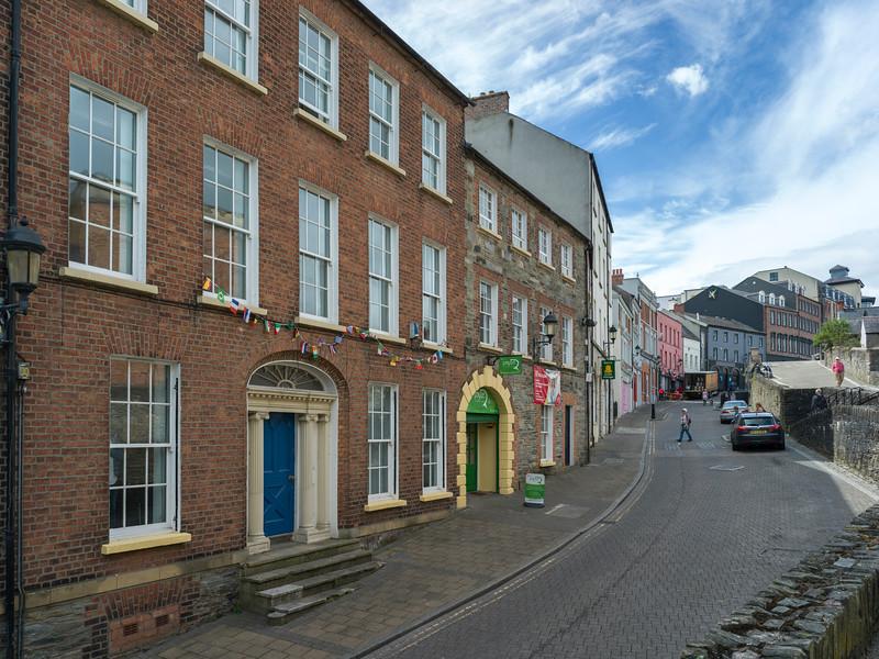 Row of Victorian brick houses, Londonderry, Northern Ireland, Ireland