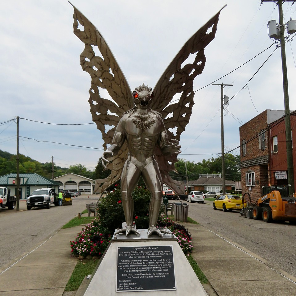 mothman statue in point pleasant west virginia