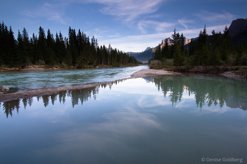 early evening light along the Bow River, Canmore