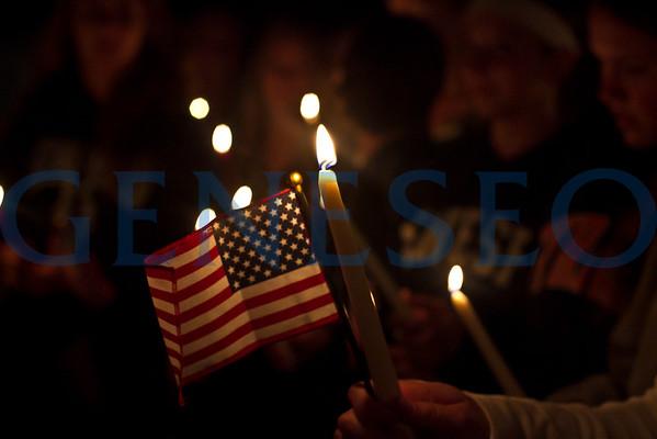 9/11 Candlelight Vigil (Photo by Kala Wilkins '16)