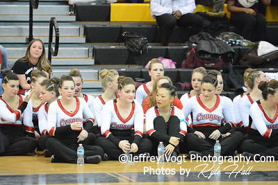 2-14-2015 Quince Orchard HS Varsity Poms at Richard Montgomery HS MCPS Championship, Photos by Jeffrey Vogt Photography with Kyle Hall