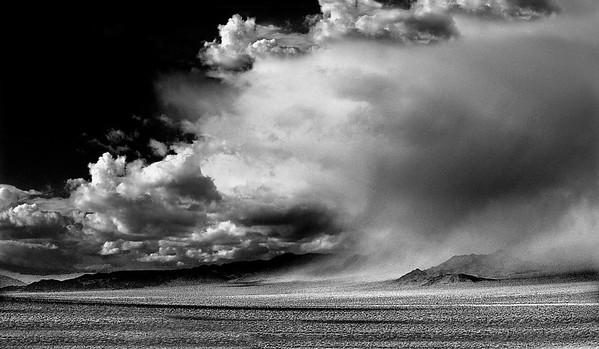 desert storm b/w, desert, storm, clouds
