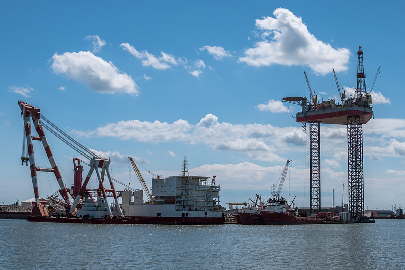 An international seaport, Constantin, Romania.