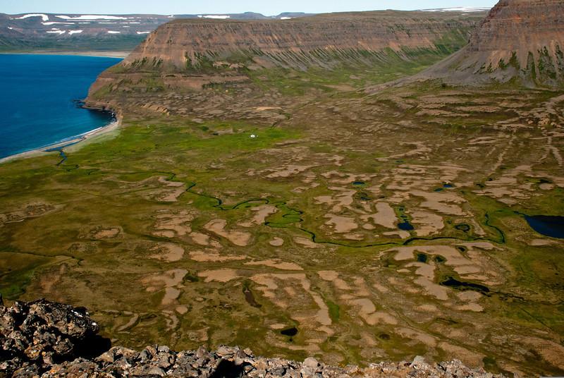 Horft yfir að Þverdal
