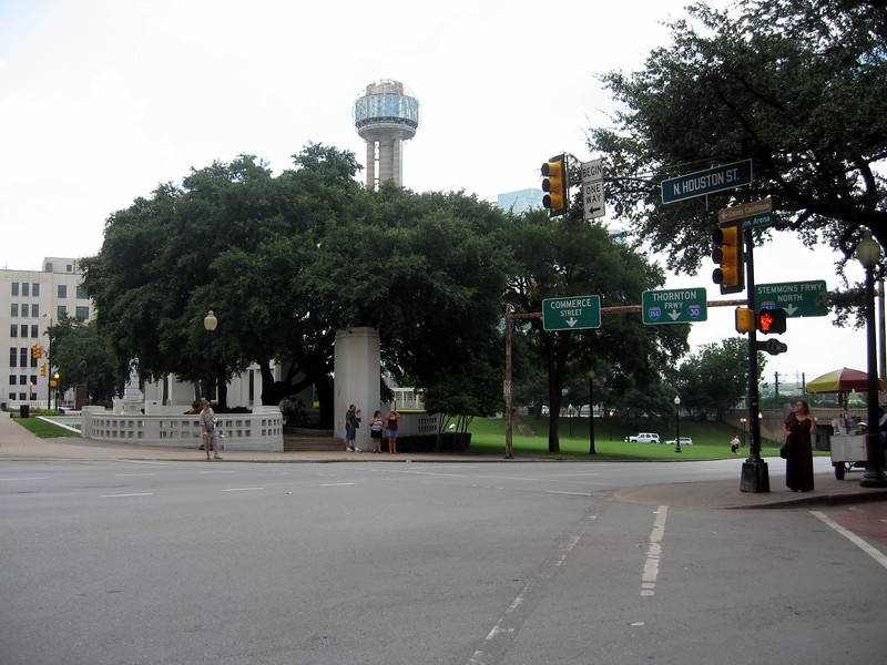 View from the northeast corner of Dealey Plaza
