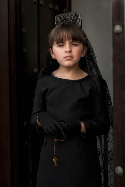 Little Spanish catholic girl.