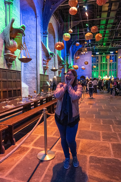 Amanda in Hogwarts Great Hall