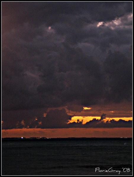 Eventide  Isla Mujeres, looking toward Cancun