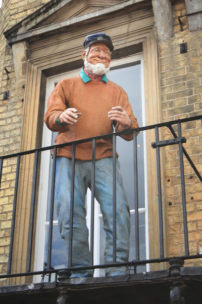 Old sailor, standing for years above a pasty shop on Market Street, Cambridge, UK.  I have no idea why.